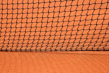 Close up details of a tennis net
