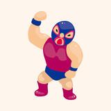 Wrestler theme elements