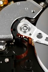 Hard disk drive detail close-up