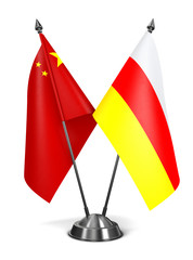 China and South Ossetia - Miniature Flags.