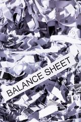 Papierschnitzel Balance Sheet