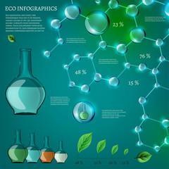 5 Infographics Bio Bubble set