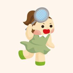 tennis player theme elements