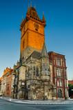 matutinal shot of Prague Town Hall (Rathaus) in Czech Republic