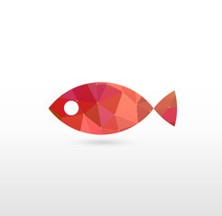 Sign of Fish with Modern Texture