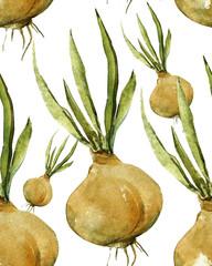 Onion seamless pattern