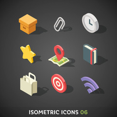Flat Isometric Icons Set 6