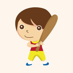 baseball player theme elements