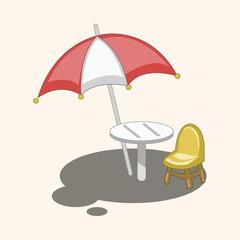 Parasol lounge theme elements