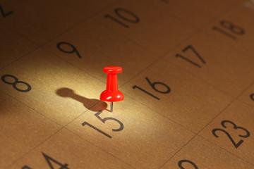 Calendar with Pushpin