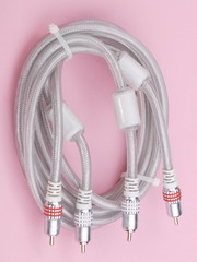 Interconnect Cable on Pink Background