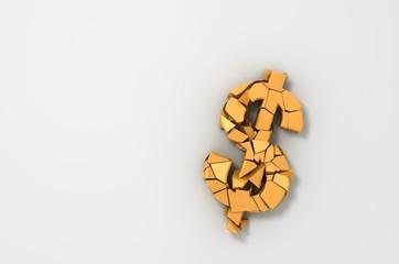 Broken Dollar Symbol