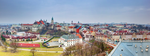 Lublin old town panorama, Poland.