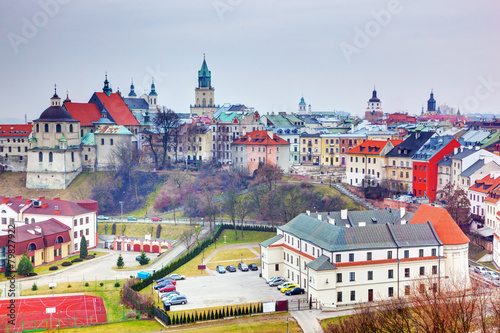Zdjęcia na płótnie, fototapety na wymiar, obrazy na ścianę : Lublin old town panorama, Poland.