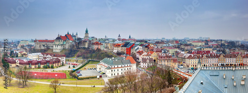 Poster Oost Europa Lublin old town panorama, Poland.