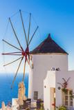 Oia windmill, Santorini island, Greece