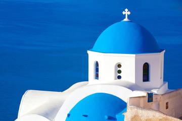 Oia church, Santorini island, Cyclades, Greece