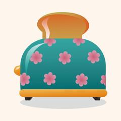 Home appliances theme toaster elements