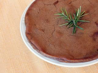 Castagnaccio, chestnut cake. Tuscan local cuisinespeciality.
