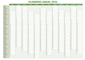 Annual planner spanish 2016.indd