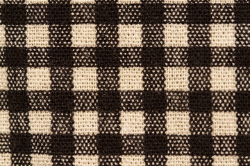 Black and white fabric texture
