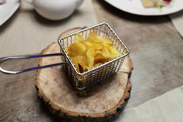 Basket with chips