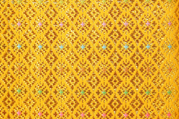 gold guipure, embroidery on cloth texture