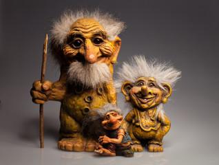 statuettes goblins troll symbols Norway