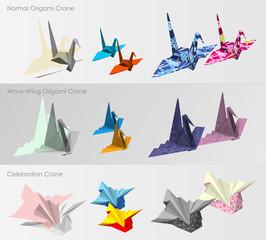 Origami Crane template set