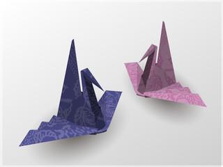wavy wing crane Origami Japan