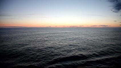 Navigate North Sea at midnight sun. Norway