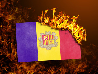 Flag burning - Andorra