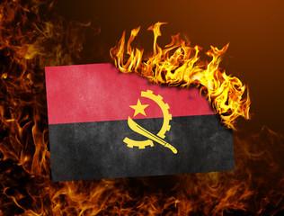 Flag burning - Angola