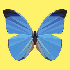 polygonal abstract geometric butterfly background