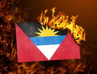Flag burning - Antigua and Barbuda