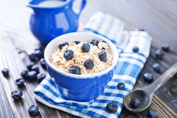 oat flakes with blueberry