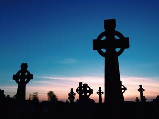 celtic gravestone silhouettes
