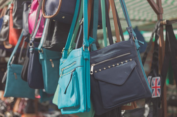 Bags at a market