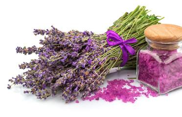 Spa natural product, lavender, aroma salt
