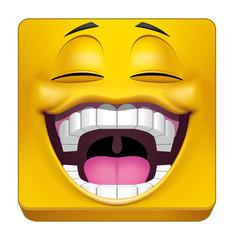 Square emoticon laughing