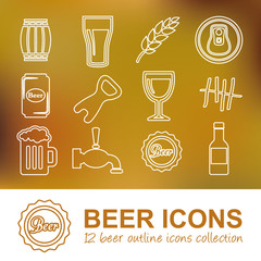 beer outline icons