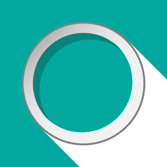 turquoise circle with stylized shadow
