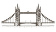 England, London, the bridge on a white background. sketch - 79838568