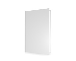 Blank cover book, isolated on a white background
