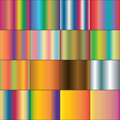 Set of different color gradients. Raster 2