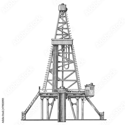 oil pump on a white background. sketch - 79838901