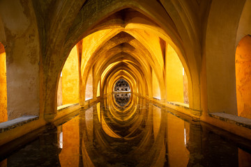 Baths of Dona Maria de Padilla. Royal Alcazar. Seville, Spain