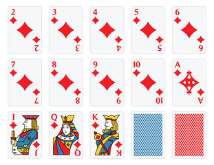 Playing Cards -  Diamonds Set