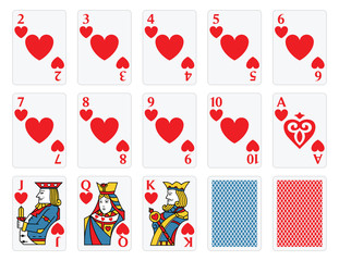 Playing Cards -  Hearts Set