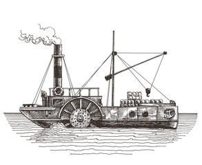 steamer on a white background. sketch